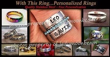 Personalized SS Ring Gift for Lifetime Partners/Gay/Lesbian/Couple/Wedding
