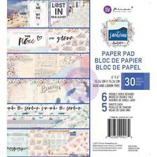 Paradise Santorini Collection Scrapbooking 6x6 inch Paper Pad PRIMA 994174 NEW