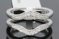 10K WHITE GOLD SOLITAIRE ENHANCER .28 CARAT DIAMOND RING GUARD WRAP WEDDING BAND