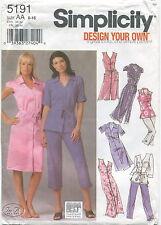 Simplicity 5191 Misses Shirtdress Tunic Pants Sewing Pattern Size 8-18