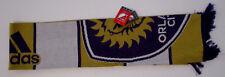 Unisex Adidas Orlando City Scarf, New Purple Yellow MLS Soccer Club Orlando