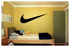 "NIKE LOGO CHECK MARK Only  WALL VINYL ART DECAL 36X13"" BEDROOM HOME DECOR"