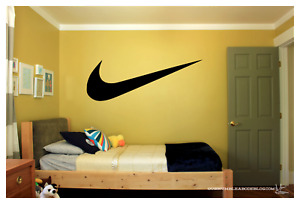 "NIKE LOGO CHECK MARK Only  WALL VINYL ART DECAL 24X8.5"" BEDROOM HOME DECOR"