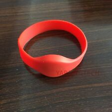 RFID Wristband 125khz Read only Red silicone waterproof -5pcs