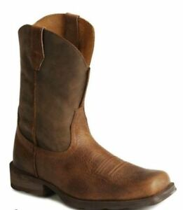 """Ariat Rambler Men's 11"""" Square Toe Earth/Brown Bomber Leather Boot 10002317"""