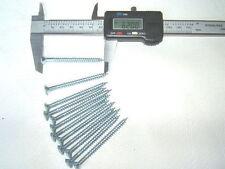 """12 (1doz) 4x60mm (8gx2.5"""") ZINC PLATED FINISH WOOD SCREWS PZ2 POZI COUNTERSUNK"""