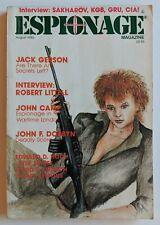 Espionage Magazine August 1986 Volume 2 Issue 3 Spies John Camp Dobbyn KGB CIA