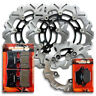 Yamaha Front+Rear Stainless Steel Brake Disc Rotor + Pads YZF R6 600 [2005-2016]