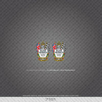 Decals 07174 Merlin Racing Cycles Bicycle Head Badges Stickers Transfers