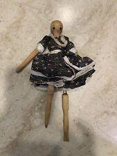 Vintage Wooden Peg Doll
