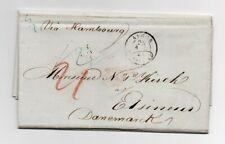 ALGERIA: Unpaid cover Alger to Denmark 1845, contents. Scarce.