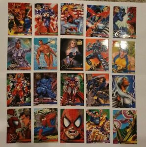 1995 Flair Marvel Annual Lot of 20 Cards