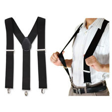 "50MM 2"" Elastic Adjustable Heavy Duty Gallusus Braces Suspenders Trouser Straps"