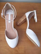 DOROTHY PERKINS WHITE HOLLA HIGH OPEN ANKLE STRAP  SHOES SIZE UK 8 BNWOT's