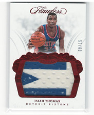2017-18 Panini Flawless Patches Ruby #22 Isiah Thomas Patch /15 - NM-MT