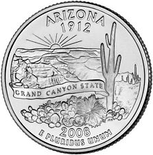 2008 P Arizona State Quarter BU