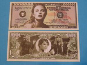 TAYLOR SWIFT: American Singer & Musician ~ $1,000,000 One Million Dollar Bill