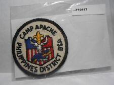 CAMP APACHE BSA CAMP OUTSIDE GATE OF CLARK AFB (VERY RARE) F10417
