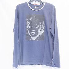 Men's Marilyn Monroe PEPE JEANS LONDON Long Sleeve T-shirt AM500031 Blue