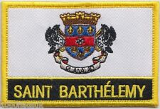 Saint Barthélemy Flag Embroidered Patch Badge - Sew or Iron on