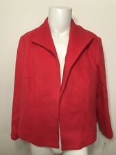 NWT Women's Coat Size 22 Salmon Pink Wool Blend Lined Long Sleeve Button Front