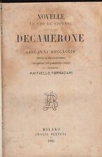 BOCCACCIO NOVELLE AD USO DEI GIOVANI SCELTE DAL DECAMERONE 1869