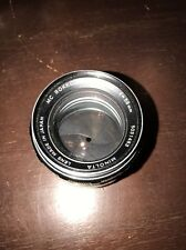 Minolta MC 58mm f1.4 Rokkor-PF Manual Focus SLR Film Camera Lens,