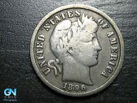 1896 P Barber Dime  --  MAKE US AN OFFER!  #B8838