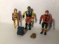 1986 LJN Bionic six figures lot 3 Personnages