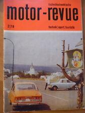 Tschechoslowakische MOTOR REVUE  2 - 1978 Skoda Zetor Flachbahn-Jawa Semex RAC