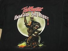 Ted Nugent Unleash The Beast Concert T shirt Black XL 2006 Two Sided Rock Music