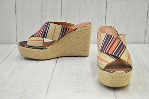 Aerosoles Woodside Strappy Wedge Sandals, Women's Size 10M, Multi - NEW