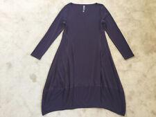 Marlawynne en capas Luxe Crepe Jersey Escote Redondo Globo Vestido Talla M Usado Una Vez