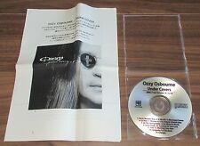 Official OZZY OSBOURNE Japan PROMO ONLY CD acetate & PRESS RELEASE Under Cover