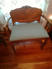 Vintage Art Deco Vanity Dressing Chair Wood Bench Piano Seat Stool Waterfall Usa