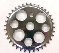 36T LUCKY 7 LOWRIDER SPROCKET, CHROME FOR LOWRIDER, BEACH CRUISERS,CHOPPER BIKES