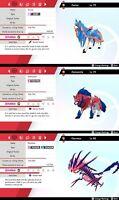 Zacian Zamazenta and Eternatus - 6IV - Best Nature - Pokemon Sword / Shield PVP