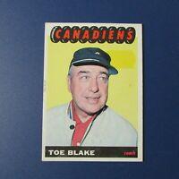 TOE BLAKE  1965-66 Topps # 1  Montreal Canadiens  1965 1966  65-66     EX-
