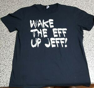 The Wiggles - Wake The Eff Up Jeff! - Large black t-shirt