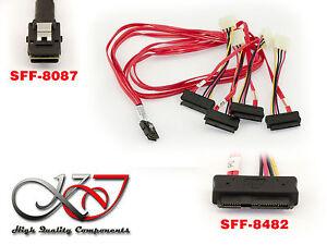 Cordón Minisas SFF-8087A 4x SFF-8482 - Largo Cables 100cm
