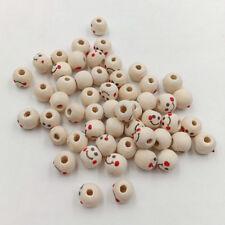 LK _ 100 Stück Lächelnd Gesicht Holz Perlen für Bastelarbeiten Schmuck