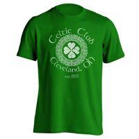 Celtic Club Cleveland Ohio Irish  Ireland Green Basic Men's T-Shirt
