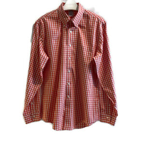 Brooks Brothers Mens Shirt Button Down Non Iron Gingham Plaid Work Size Large