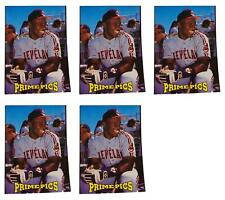 (5) 1993 Sports Card Review Prime Pics #1 Albert Belle Baseball Card Lot Indians