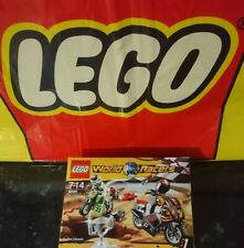 """LEGO World Racers """"SNAKE CANYON"""" 8896 Rare Dirt Bikes New (2010) Box Collectable"""
