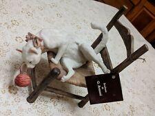Giuseppe Armani #166-C Cat on a Chair W/ Yarn Ball Italy