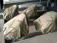 LOT OF FOUR PEDESTAL BOAT SEAT COVERS TRACTOR SEAT DUCK BLIND DESERT CAMO COTTON