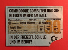 Fußball Eintrittskarte Ticket Bayern München - 1. FC Nürnberg 1987/88 ( 60194
