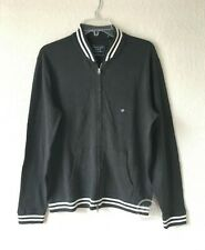 NWT Abercrombie & Fitch Men's Full Zip Varsity Jacket Black Size S