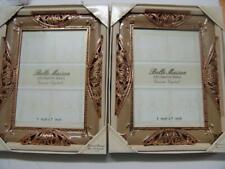 Lot of 2 Belle Maison 5 x 7 Decorative Jewels Crystal Frames Gold
